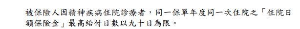 元大JR-享有心-精神疾病住院日額